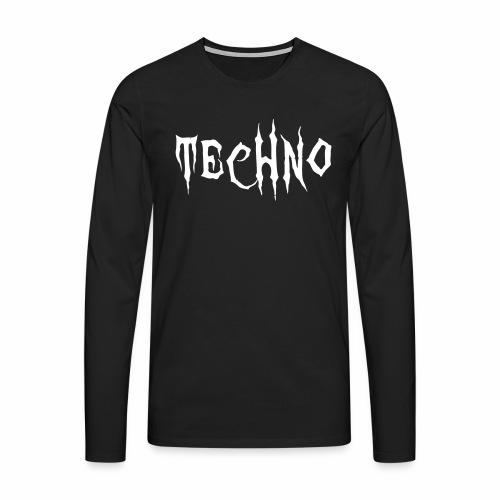 Techno Schriftzug Horror Böse Harder Styles - Männer Premium Langarmshirt