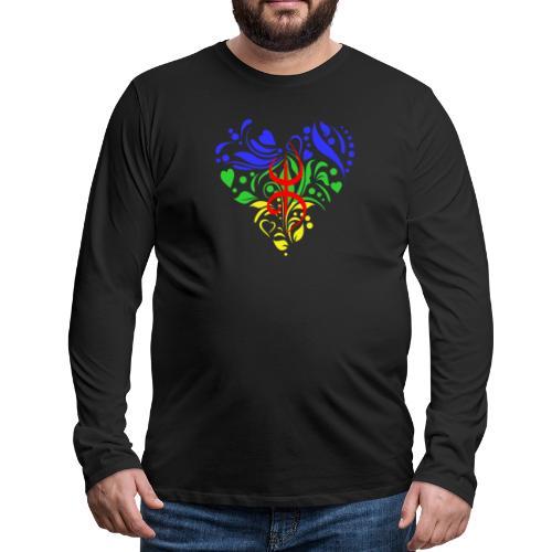 Amazigh berbère Coeur - T-shirt manches longues Premium Homme