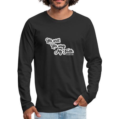 Way Will Faith Art Tee - Männer Premium Langarmshirt