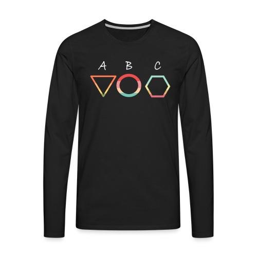 Abc t shirt - Långärmad premium-T-shirt herr
