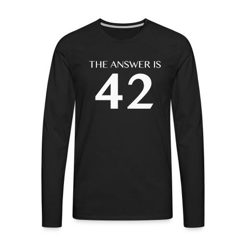 The Answer is 42 White - Men's Premium Longsleeve Shirt