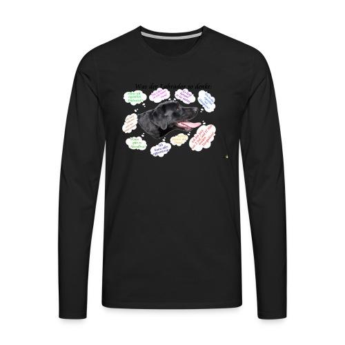 Labrador Gedanken - Männer Premium Langarmshirt