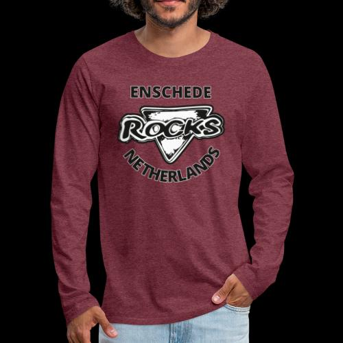 Rocks Enschede NL B-WB - Mannen Premium shirt met lange mouwen