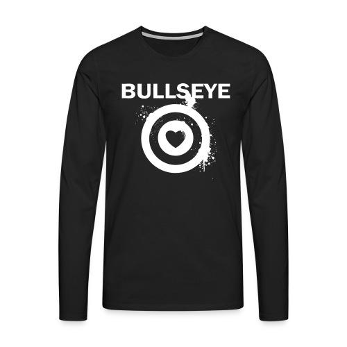 BullsEye White - Mannen Premium shirt met lange mouwen