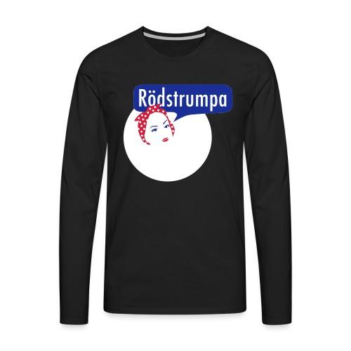RÖDSTRUMPA 2 - Långärmad premium-T-shirt herr