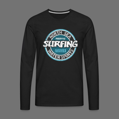 North Sea Surfing (oldstyle) - Koszulka męska Premium z długim rękawem