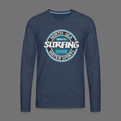 North Sea Surfing (oldstyle) - Miesten premium pitkähihainen t-paita