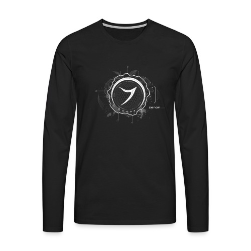 Zenon TECH (white) - Men's Premium Longsleeve Shirt