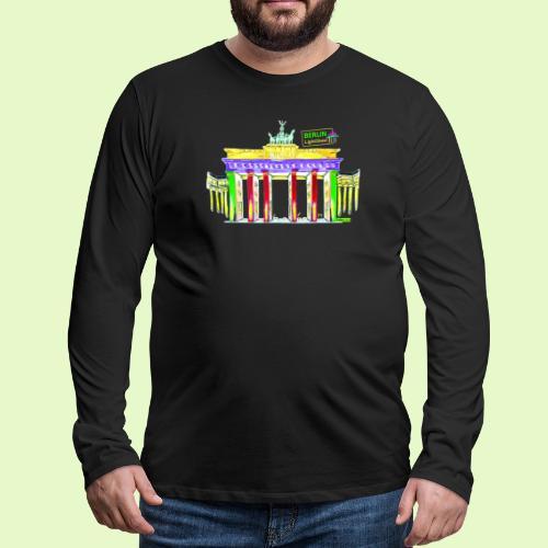 Berlin/Brandenburger Tor/PopArt/BerlinLightShow - Männer Premium Langarmshirt