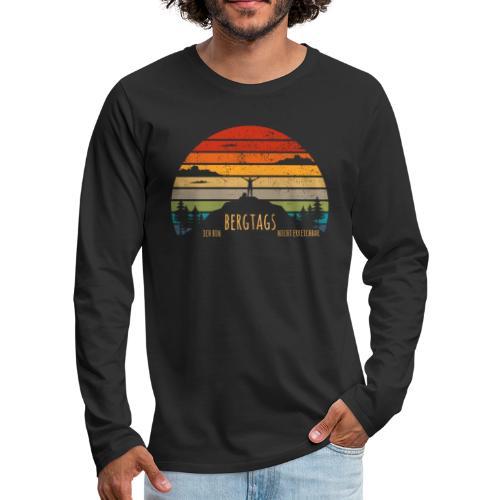 lustige Wanderer Sprüche Shirt Geschenk Retro - Männer Premium Langarmshirt