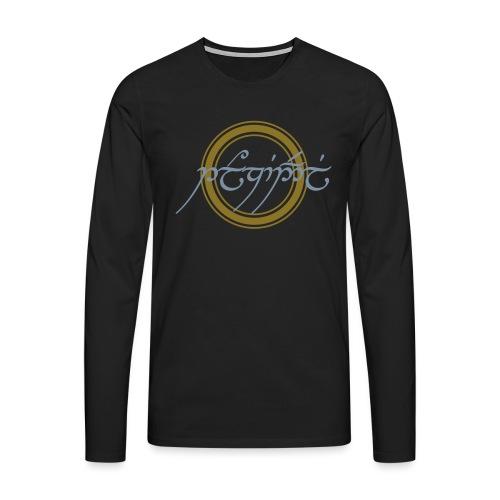 Tolkiendil en tengwar - T-shirt manches longues Premium Homme
