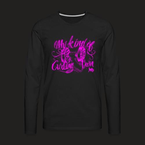 CURLING PURPLE.png - Men's Premium Longsleeve Shirt