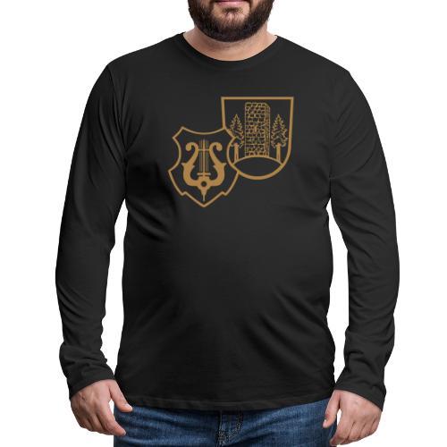 MVW Welden Logo Schwarz gross - Männer Premium Langarmshirt