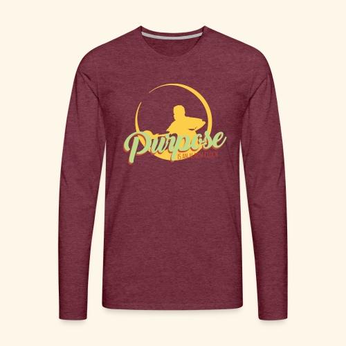 Purpose is an alarm clock to keep reminding you - Männer Premium Langarmshirt