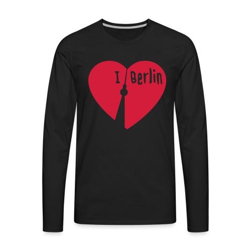 I love Berlin (1-farbig) - Männer Premium Langarmshirt