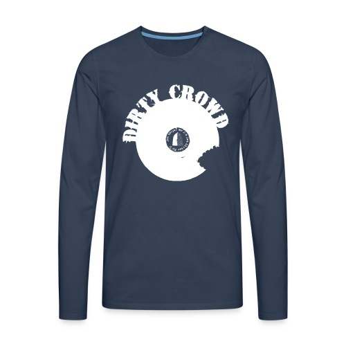 DC LOGO VIT - Långärmad premium-T-shirt herr