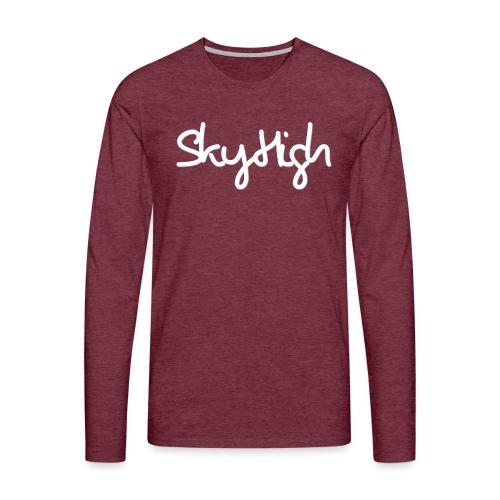 SkyHigh - Men's Premium T-Shirt - White Lettering - Men's Premium Longsleeve Shirt