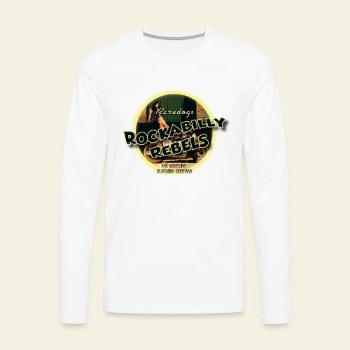 rockabilly rebels pinup - Herre premium T-shirt med lange ærmer