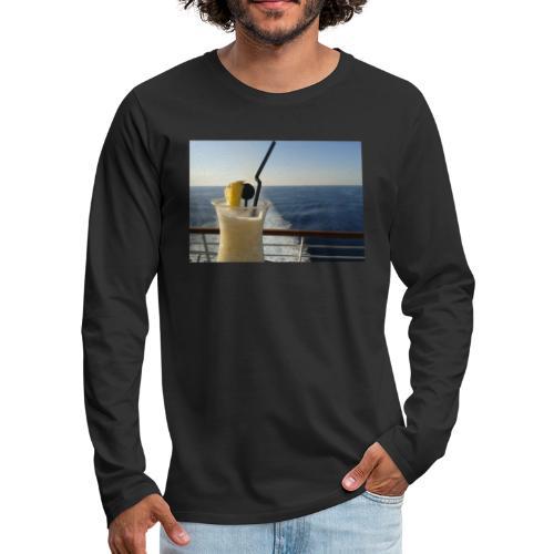 Cocktail Kreuzfahrt Meer Foto Schiff Ananas - Männer Premium Langarmshirt