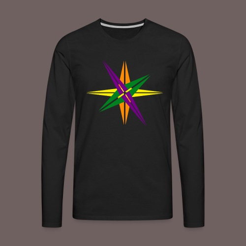 GBIGBO zjebeezjeboo - Love - Couleur d'étoile brillante - T-shirt manches longues Premium Homme
