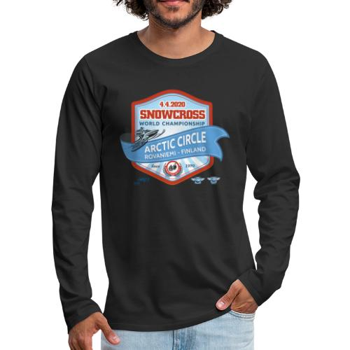 MM Snowcross 2020 virallinen fanituote - Miesten premium pitkähihainen t-paita