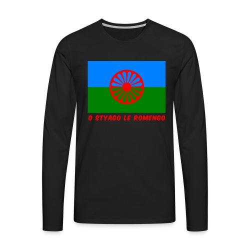 o styago le romengo flag of romani people t-shirt - Maglietta Premium a manica lunga da uomo