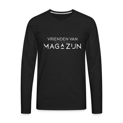 Vrienden van Restaurant het Magazijn - Mannen Premium shirt met lange mouwen