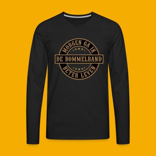 bb logo rond shirt - Mannen Premium shirt met lange mouwen