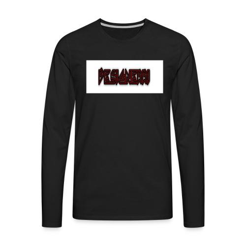 designerri - Långärmad premium-T-shirt herr