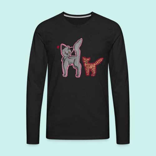 cat and kitten - Miesten premium pitkähihainen t-paita