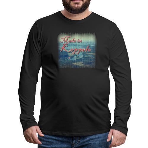 Made in Koppelo lippis - Miesten premium pitkähihainen t-paita