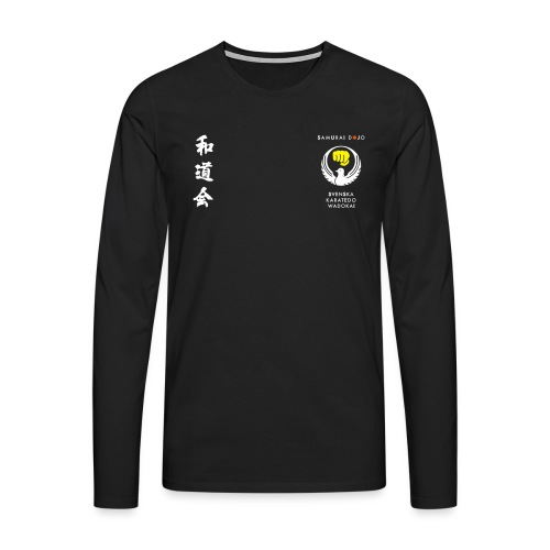 Samurai dojos Kodomokläder - Långärmad premium-T-shirt herr