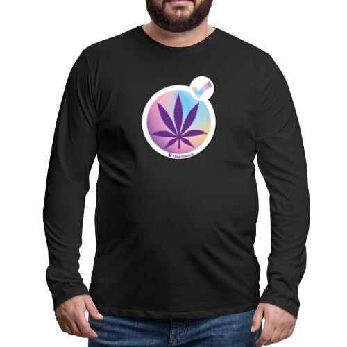 Kannabiksen laillistamisen puolesta - Miesten premium pitkähihainen t-paita
