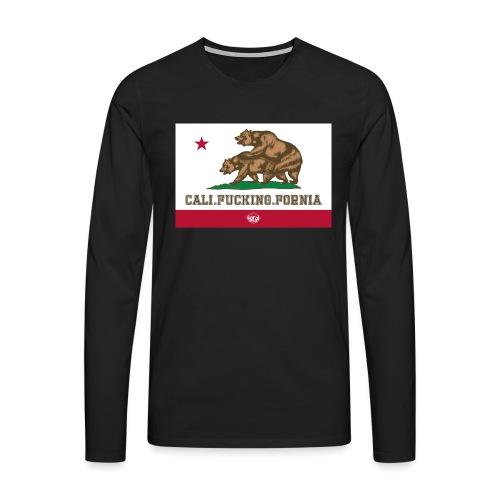 California, Californiano, Fuck, Orso - Maglietta Premium a manica lunga da uomo