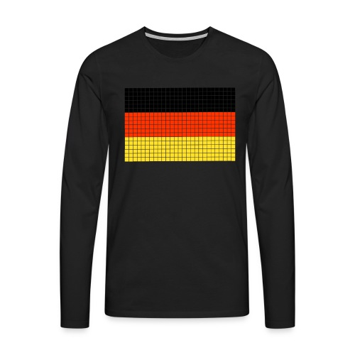german flag.png - Maglietta Premium a manica lunga da uomo
