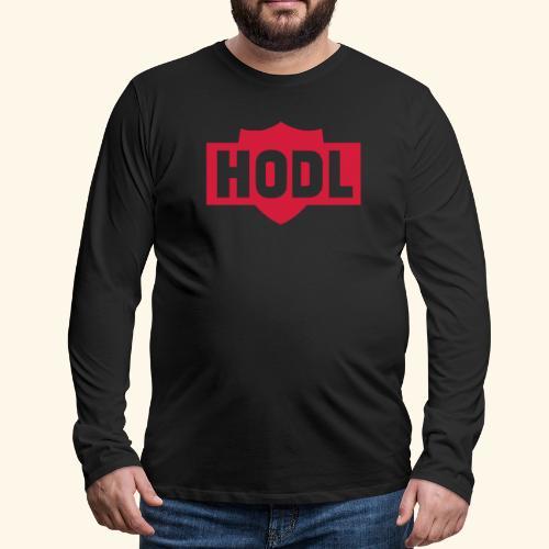 HODL TO THE MOON - Miesten premium pitkähihainen t-paita