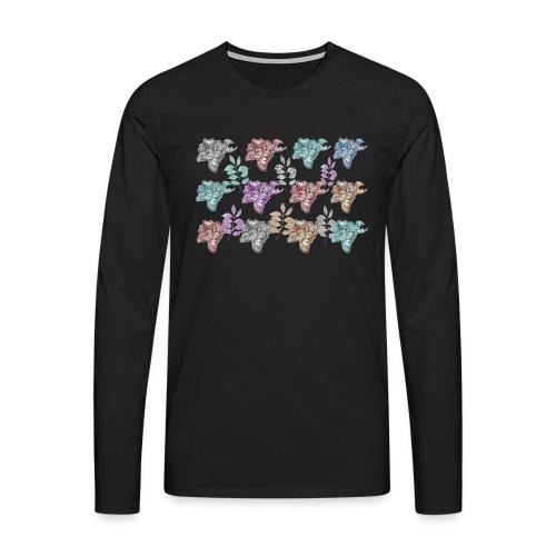 floral pattern - Men's Premium Longsleeve Shirt