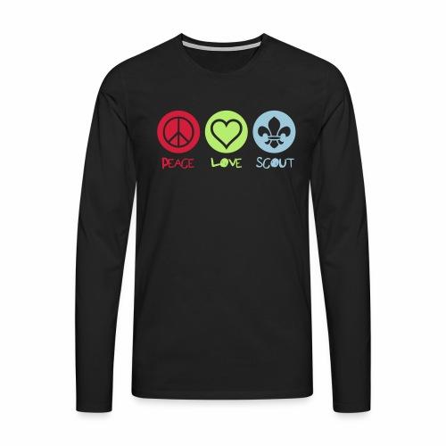 Peace Love Scout - T-shirt manches longues Premium Homme