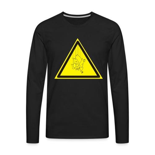 pericolo-caduta-santi - Maglietta Premium a manica lunga da uomo