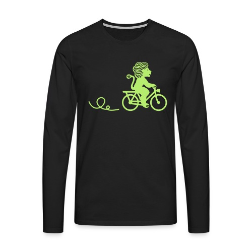 Züri-Leu beim Velofahren ohne Text - Männer Premium Langarmshirt