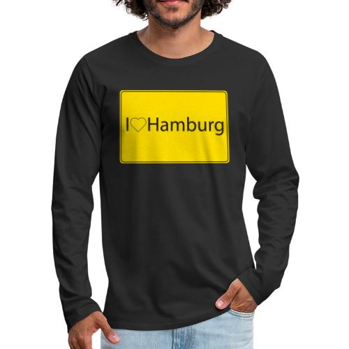 I love hamburg - Männer Premium Langarmshirt
