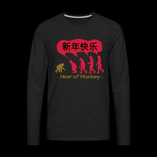 kung hei fat choi monkey - Men's Premium Longsleeve Shirt