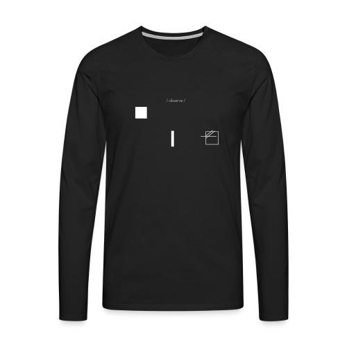 /obeserve/ sweater (M) - Premium langermet T-skjorte for menn