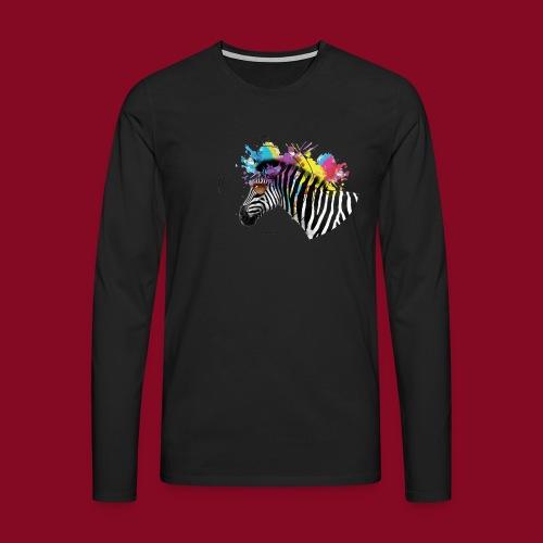 Watercolour-Z - Maglietta Premium a manica lunga da uomo