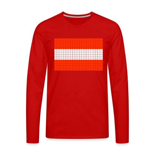 austrian flag - Maglietta Premium a manica lunga da uomo