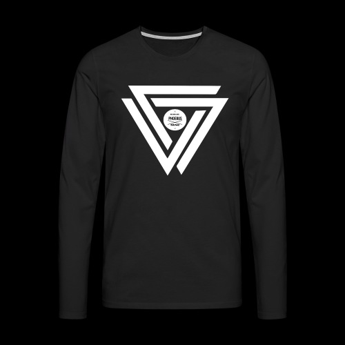 08 logo complet withe - T-shirt manches longues Premium Homme