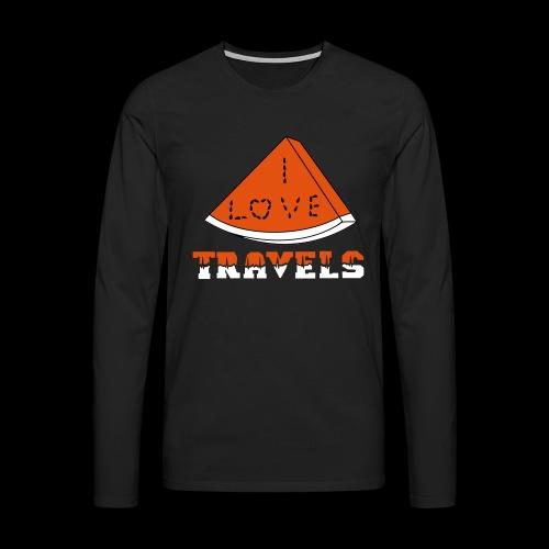 I LOVE TRAVELS FRUITS for life - Men's Premium Longsleeve Shirt