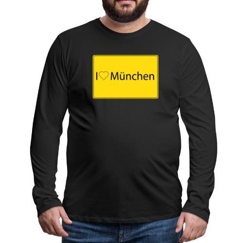 I love München - Männer Premium Langarmshirt