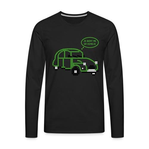 eendje.png - Mannen Premium shirt met lange mouwen