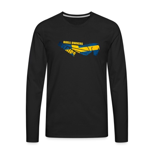 Buell Owners Sverige - Långärmad premium-T-shirt herr